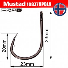 Крючки Mustad 10827NPBLN 7/0