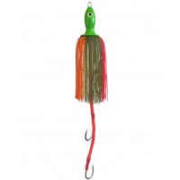Приманка CatfishPro octopus teaser 250gr light green with two hooks