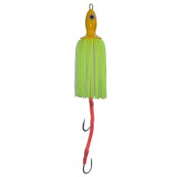 Приманка CatfishPro octopus teaser 200gr yellow with two hooks