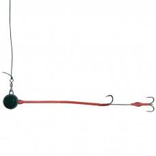Монтаж Fireball 250gr с одинарным крючком и тройником