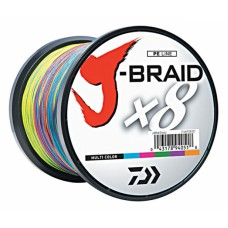 Плетёный шнур Daiwa J-Braid Multi Color 0,55mm 1500m