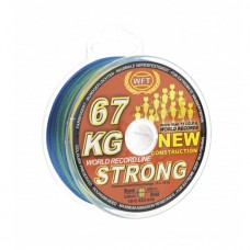 Плетёный шнур WFT NEW 67KG Strong 0,39mm 250m multicolor